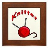 Knitter Framed Tile