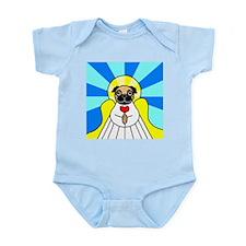 Pug Angel - Fawn Infant Bodysuit