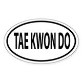 Tae Kwon Do, TKD Oval decal Decal
