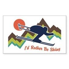 I'd Rather Be Skiing Decal