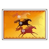 Three Ancient Horses Banner