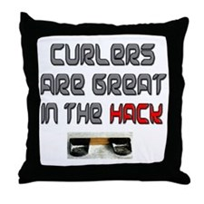 Curlers are Great in the Hack Throw Pillow