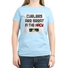 Curlers are Great in the Hack Women's Pink T-Shirt