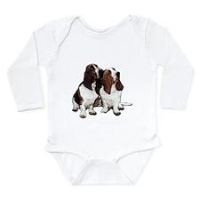 Basset Hounds Long Sleeve Infant Bodysuit