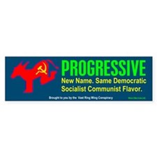 Progressive<br>Bumper Bumper Sticker