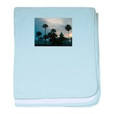 Palm Trees at Dusk baby blanket