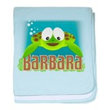 Adorable Barbara Turtle baby blanket