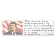 Bumper Sticker:When the Lord Calls Me Home