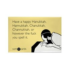 Happy Hanukkah Rectangle Magnet