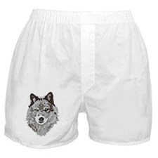 Stylized Grey Wolf Boxer Shorts