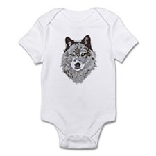 Stylized Grey Wolf Infant Bodysuit