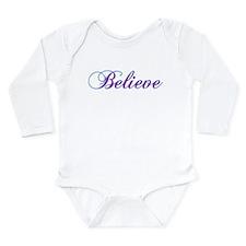 Believe Gifts in Purple & Teal Long Sleeve Infant