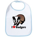 I Love Badgers Bib