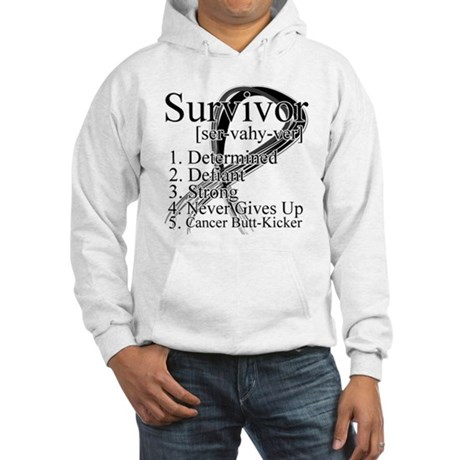Skin Cancer Survivor Hooded Sweatshirt
