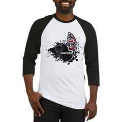 Butterfly Survivor Skin Cance Baseball Jersey