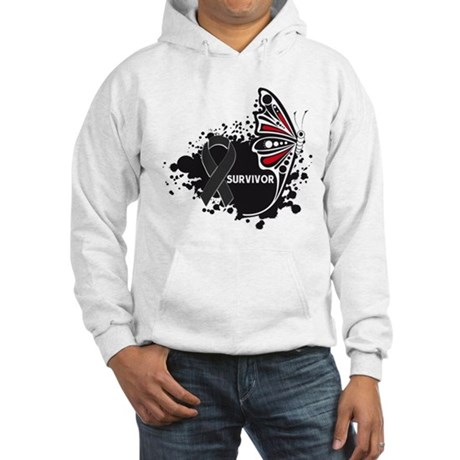 Butterfly Survivor Skin Cance Hooded Sweatshirt