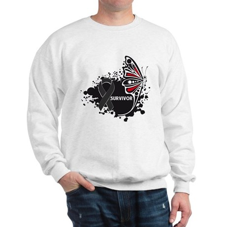 Butterfly Survivor Skin Cance Sweatshirt