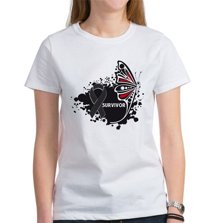 Butterfly Survivor Skin Cance Women's T-Shirt