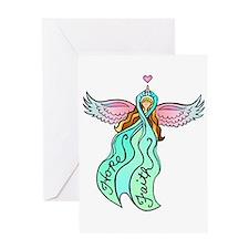 Teal Angel Greeting Card