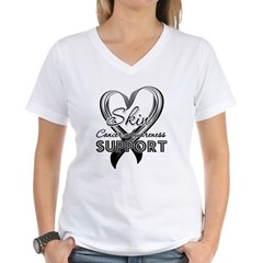 Skin Cancer Support Women's V-Neck T-Shirt