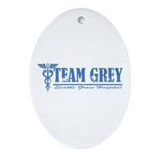 Team Grey SGH Ornament (Oval)