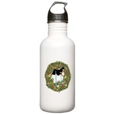Agility Doberman Xmas Wreath Water Bottle