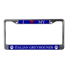 Blue I Love My Italian Greyhounds Frame