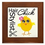 Hair Stylist Chick Framed Tile