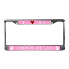Pink I Love My Chocolate Lab Frame