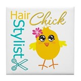 Hair Stylist Chick v2 Tile Coaster