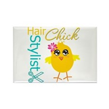 Hair Stylist Chick v2 Rectangle Magnet (10 pack)
