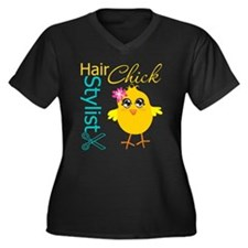 Hair Stylist Chick v2 Women's Plus Size V-Neck Dar