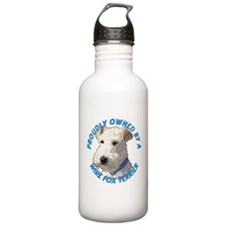 Proudly Owned Wire Fox Terrier Water Bottle