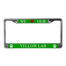 Green We Love Our Yellow Lab Frame