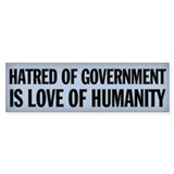 Anti State Bumper Sticker