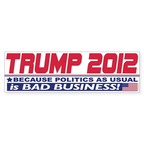 No More Politics as Usual Sticker (Bumper 50 pk)