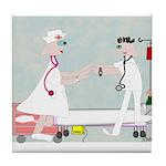 Student Nurse XXX Tile Coaster