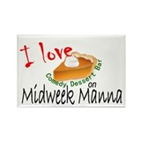 Midweek Manna Rectangle Magnet