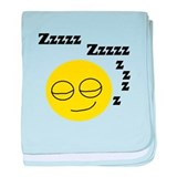 Sleeping Smiley baby blanket