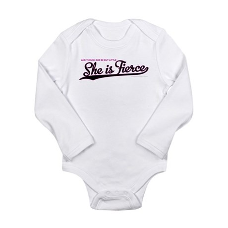 She is Fierce - Swash Long Sleeve Infant Bodysuit