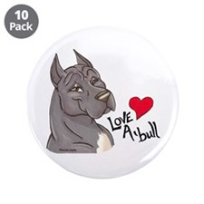 "Love A'Bull 3.5"" Button (10 pack)"