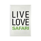Live Love Safari Rectangle Magnet (10 pack)