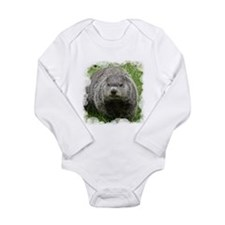 Groundhog (Woodchuck) Long Sleeve Infant Bodysuit
