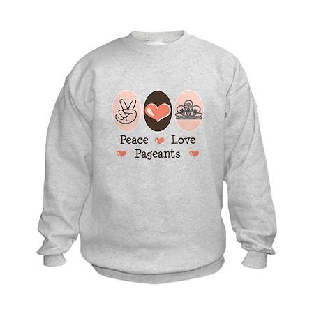Peace Love Pageant Kids Sweatshirt