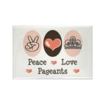 Peace Love Pageant Rectangle Magnet (100 pack)