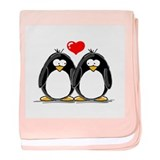 Love Penguins baby blanket