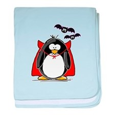 Dracula Penguin baby blanket
