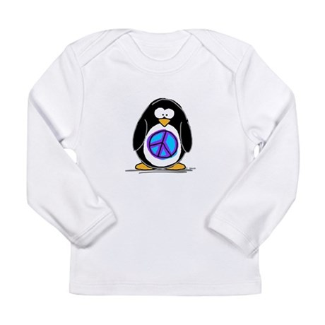 Peace penguin Long Sleeve Infant T-Shirt