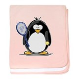 Tennis Penguin baby blanket