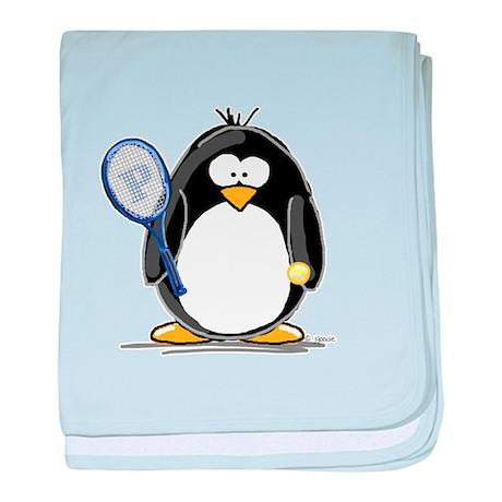 Tennis Penguin baby blanket
